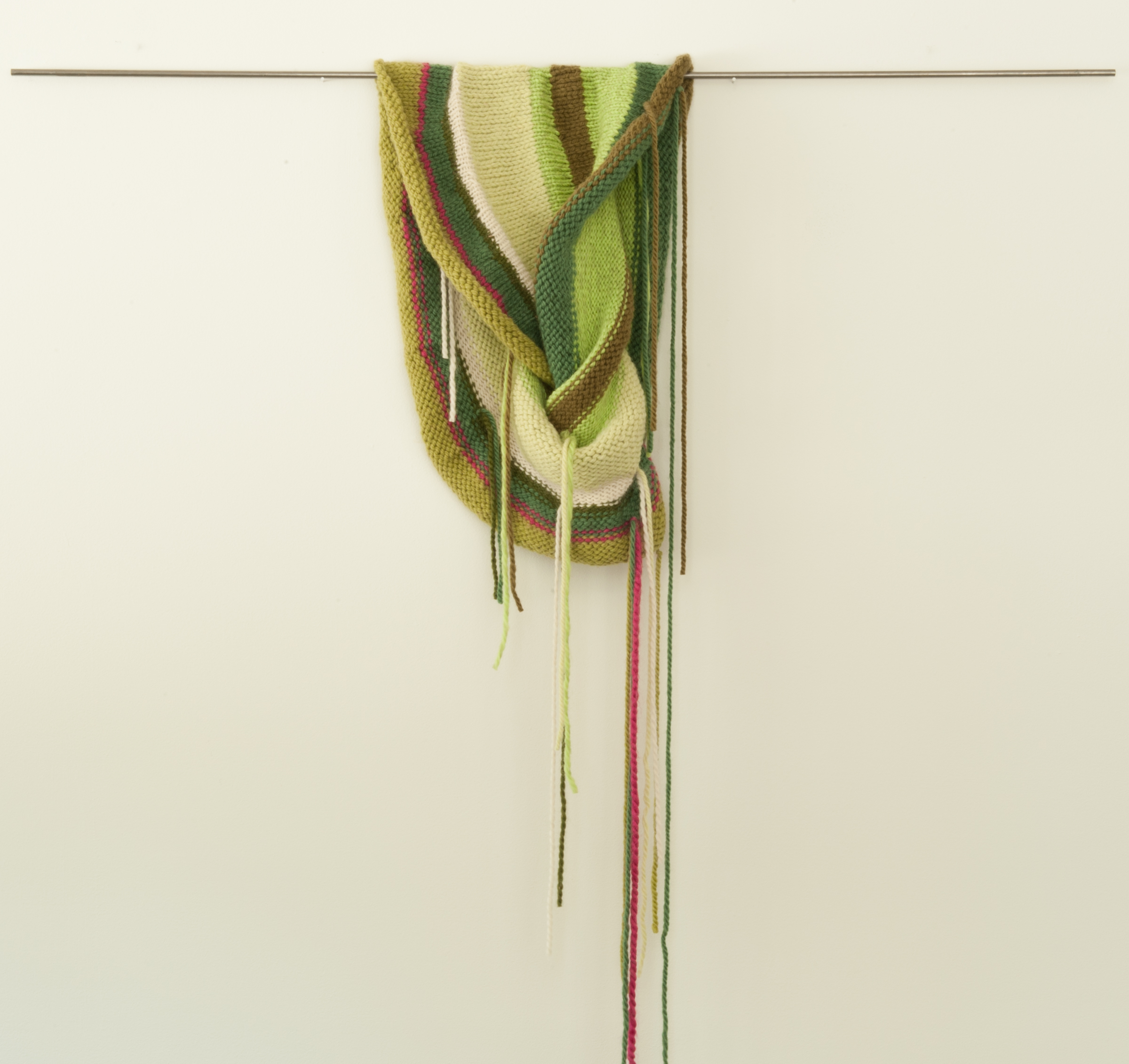 Edna Garrett  | 2013  | hand knitted acrylic, cotton, and wool | 54 x 18