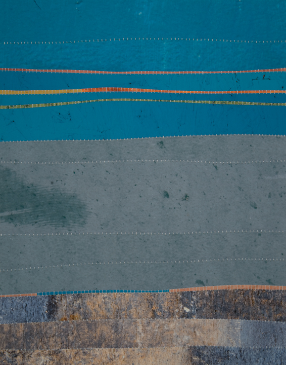 People's minds are changed through observation and not through argument.  | 2014  photographs and handsewn thread | 14 x 11