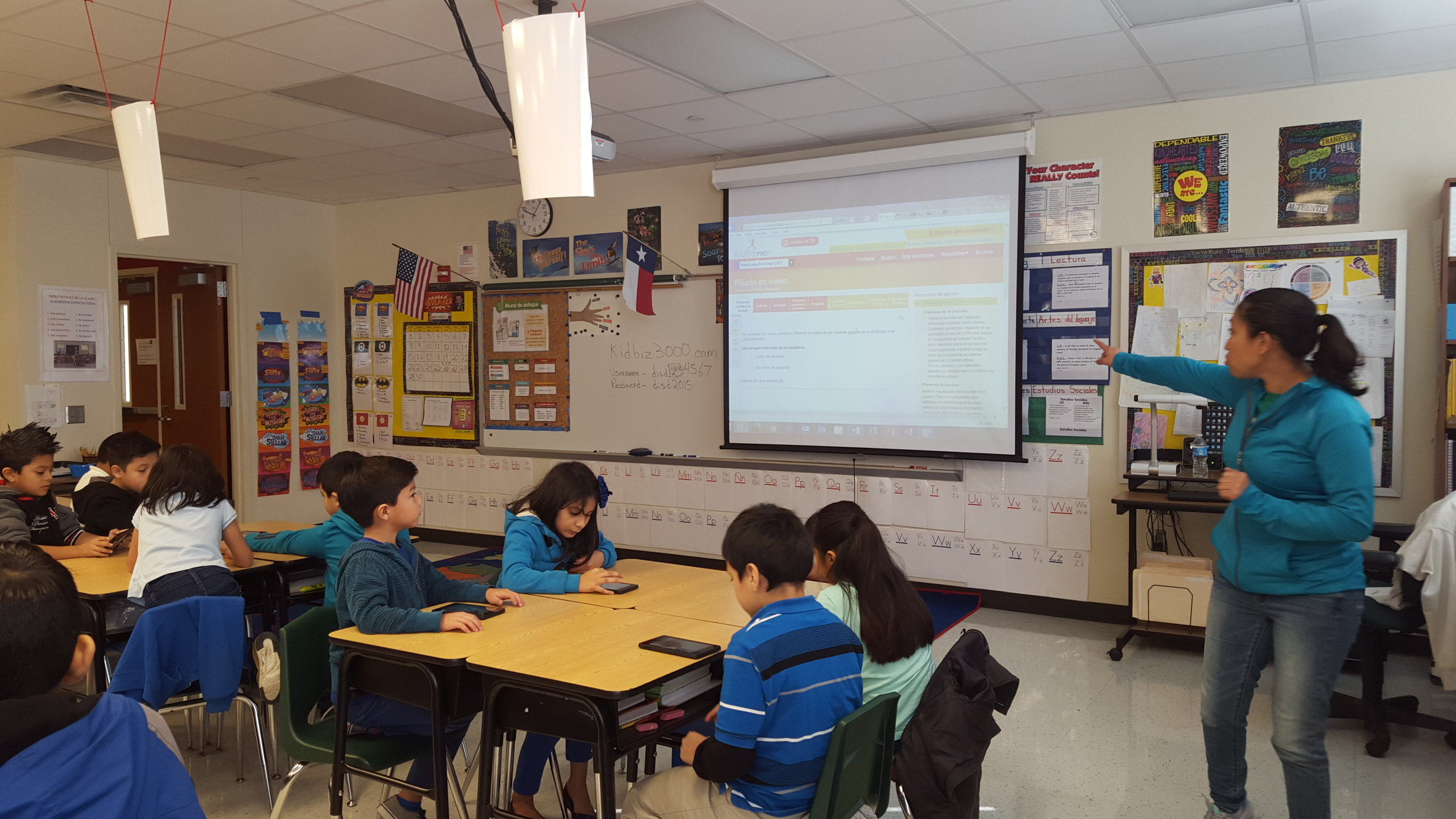 This class is following along with the teacher on Achieve 3000.