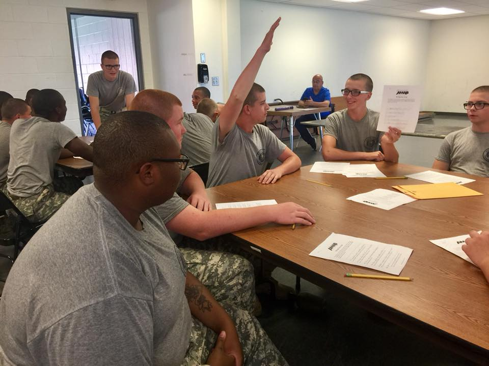 Cadets are voting on which script to produce into an animation.