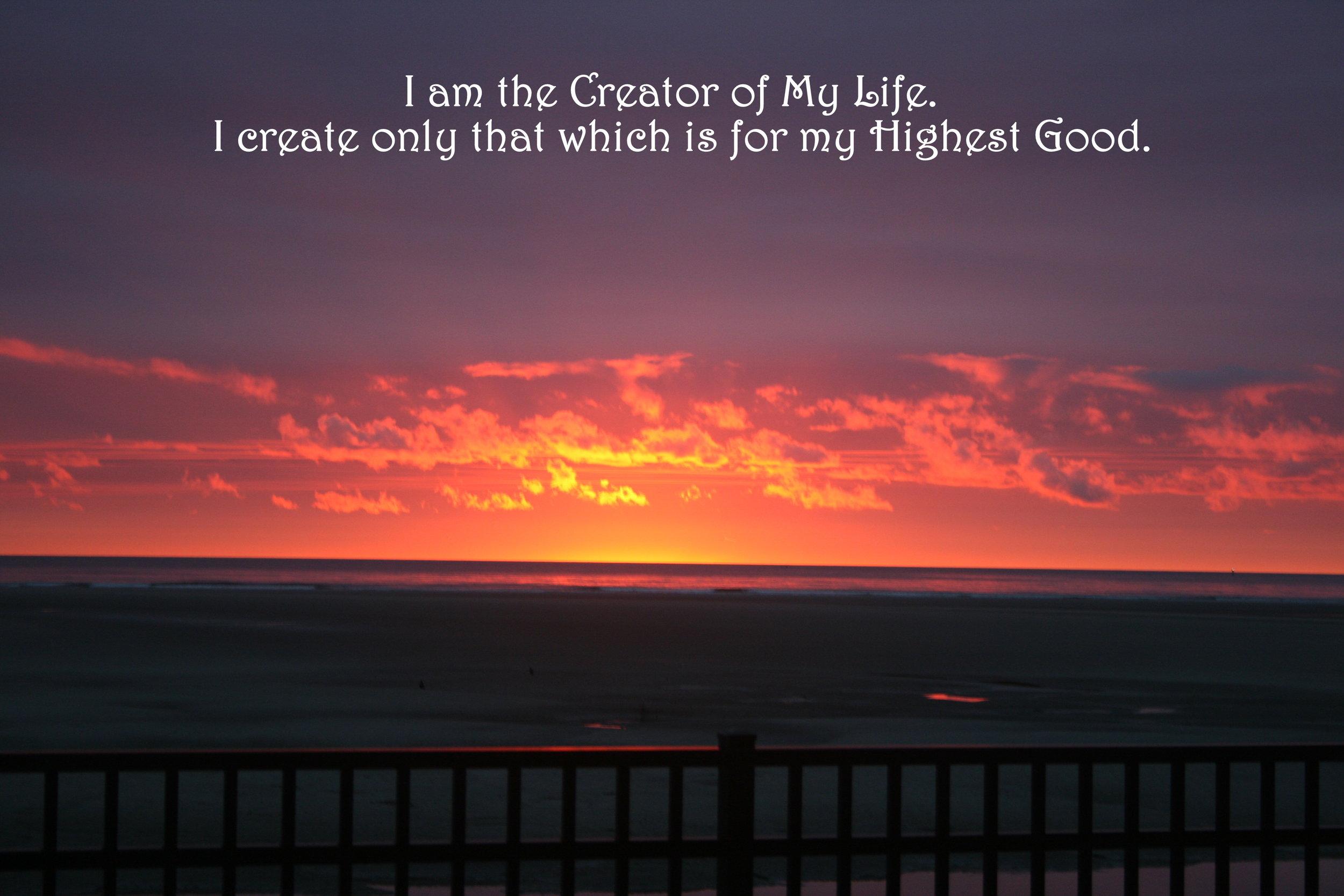 Sunrise over railing_Creator of life, highest good.jpg