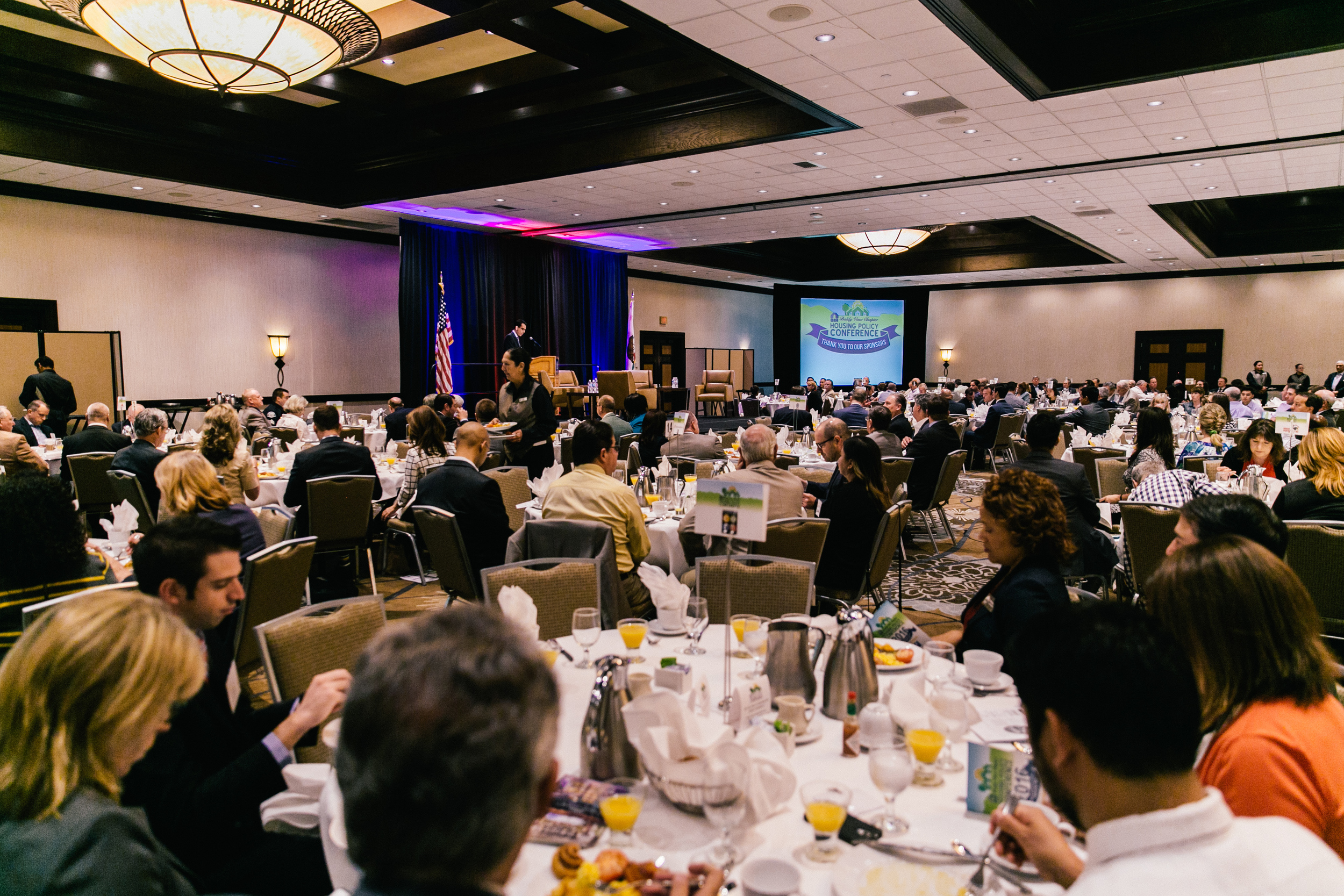 Over 270 attendees enjoy breakfast at the 2016 Housing Policy Conference