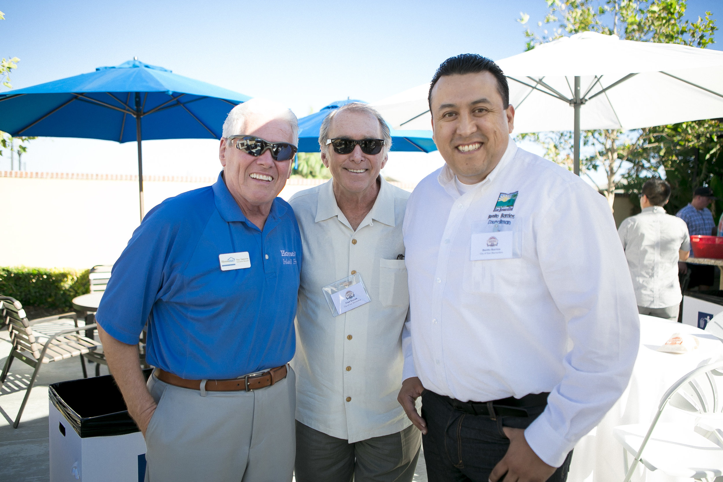 Ray Osbourn (HomeAidIE), Fred Shorett (SB City Council), Benito J. Barrios (SB City Council)