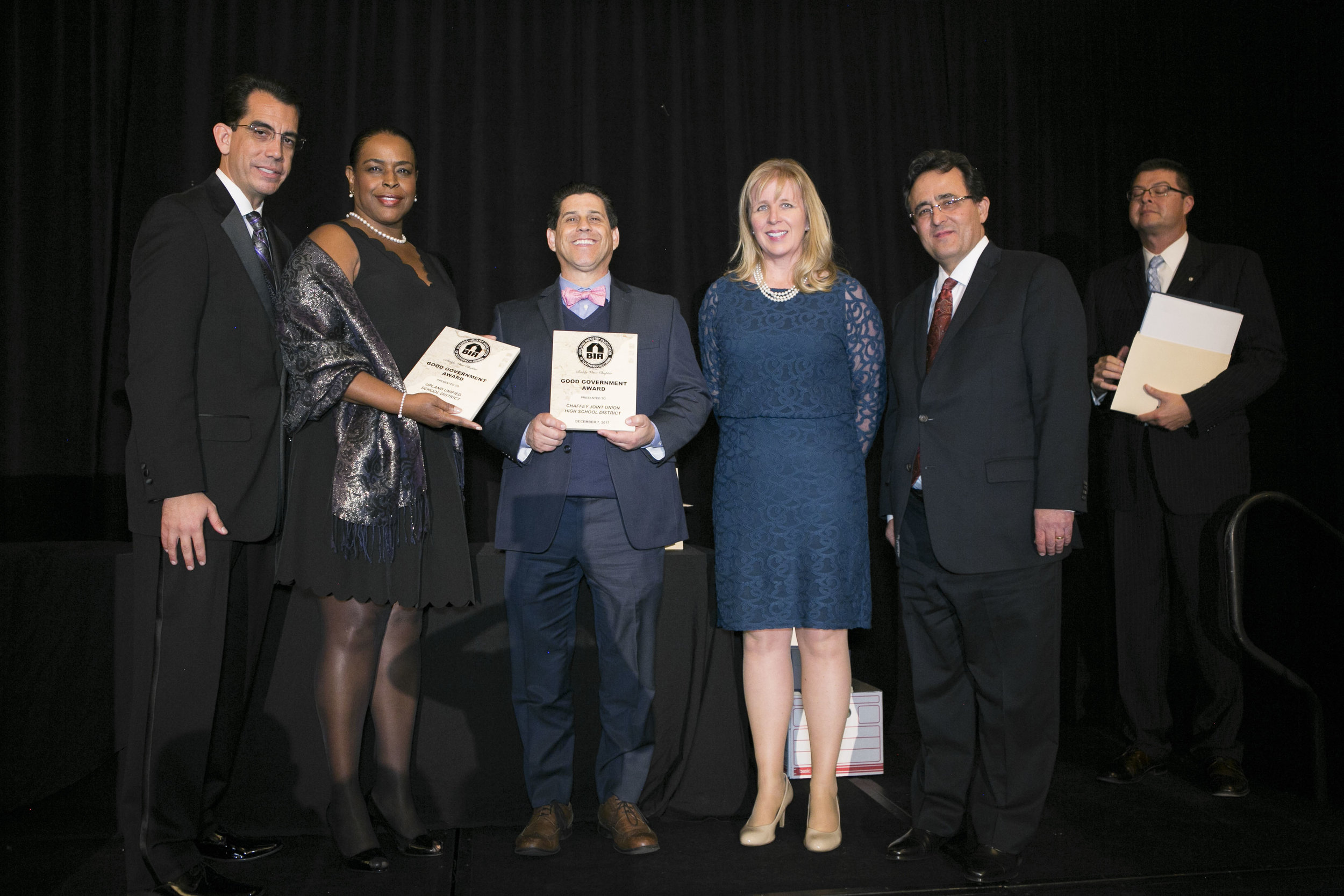 <b>GOOD GOVERNMENT AWARD</b><br>Chaffey Joint Union High School District & Upland Unified School District