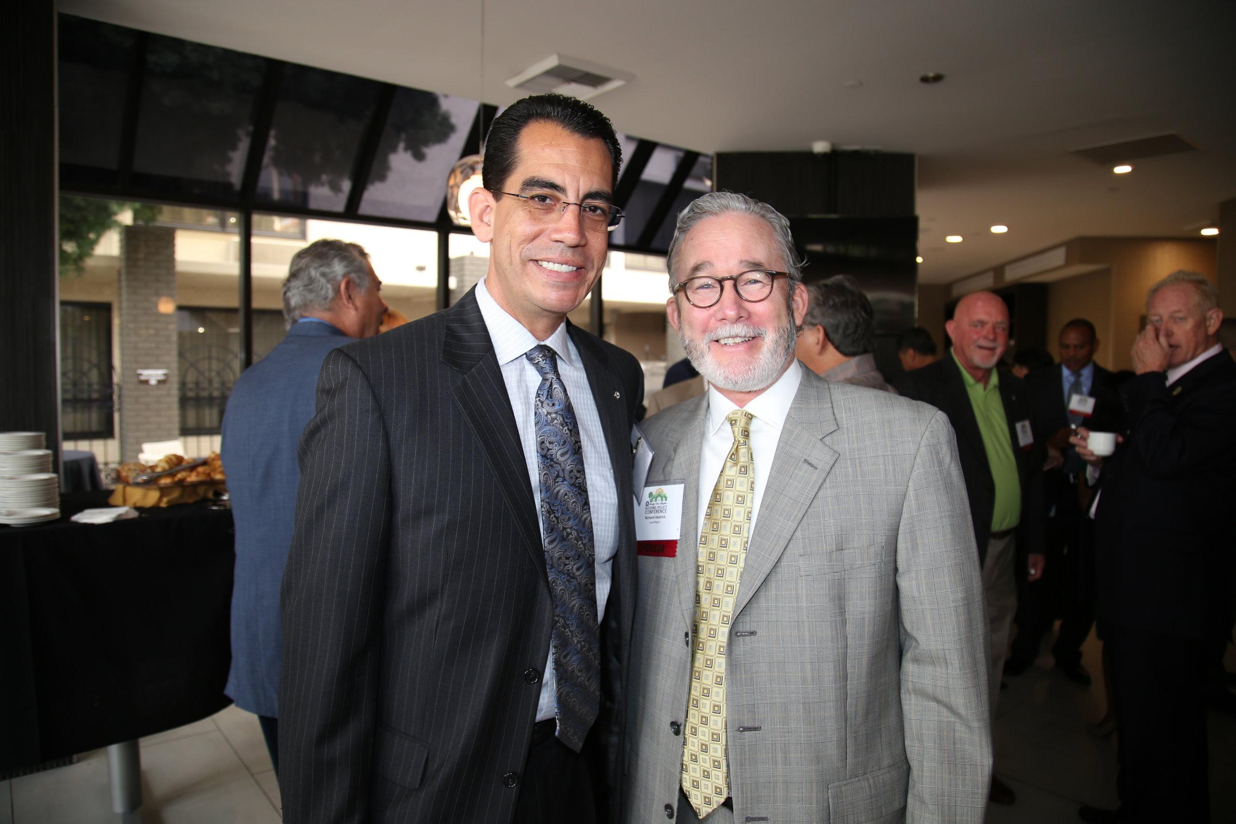 CEO Carlos Rodriguez and American Spirit Sponsor loanDepot's Richard Hedrick