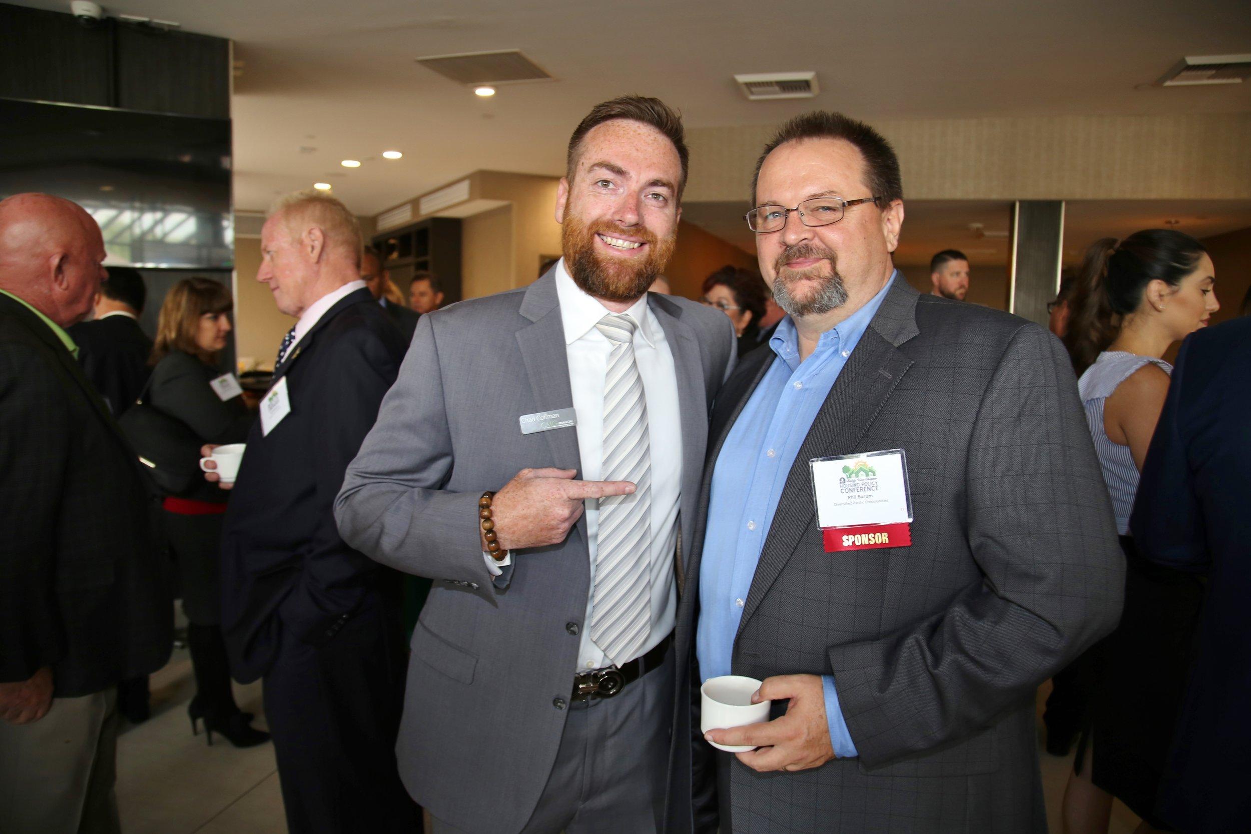 Board Member Chad Coffman of CMG Financial and BIABV President Phil Burum