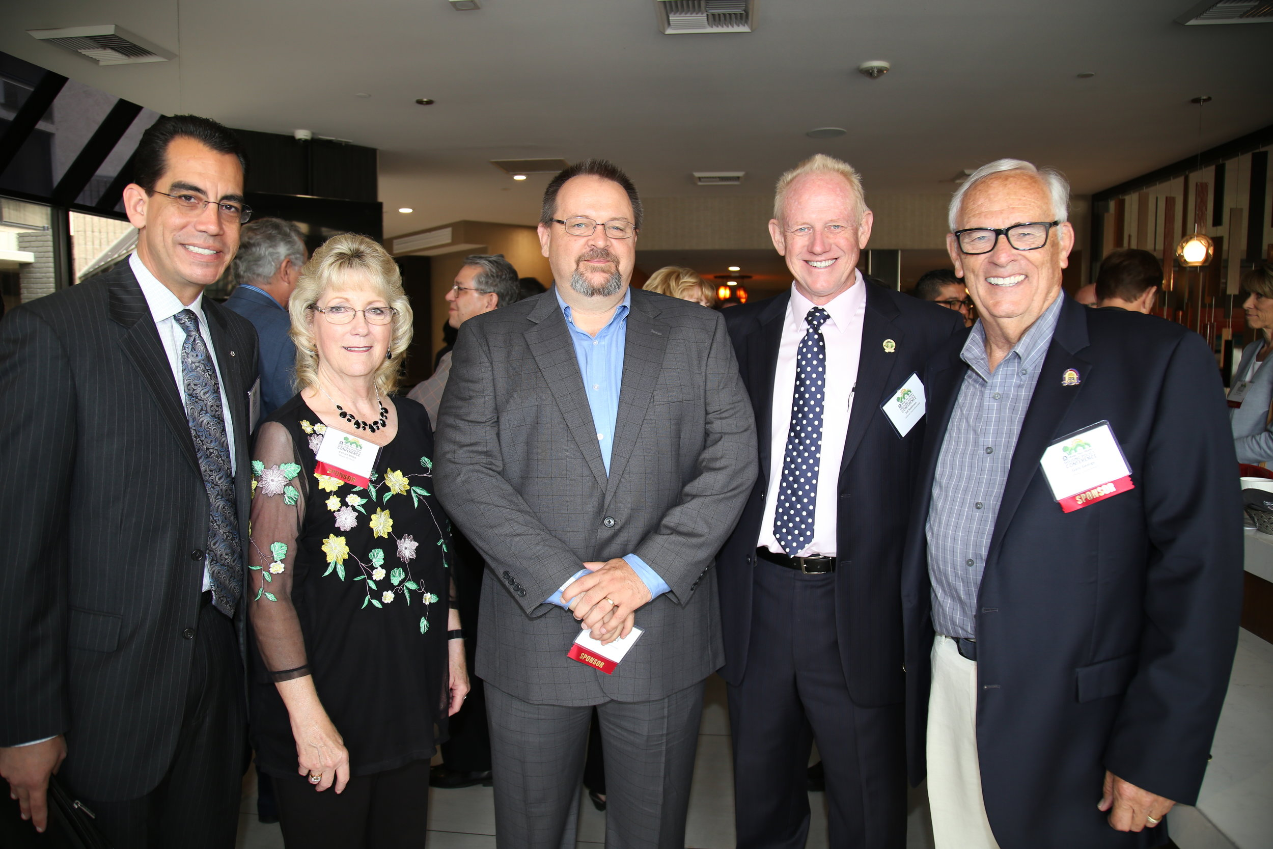 (From left to right) CEO Carlos Rodriguez, Chino Mayor Eunice Ulloa, BIABV President Phil Burum, Upland Councilmember Sid Robinson, Chino Councilmember Gary George.