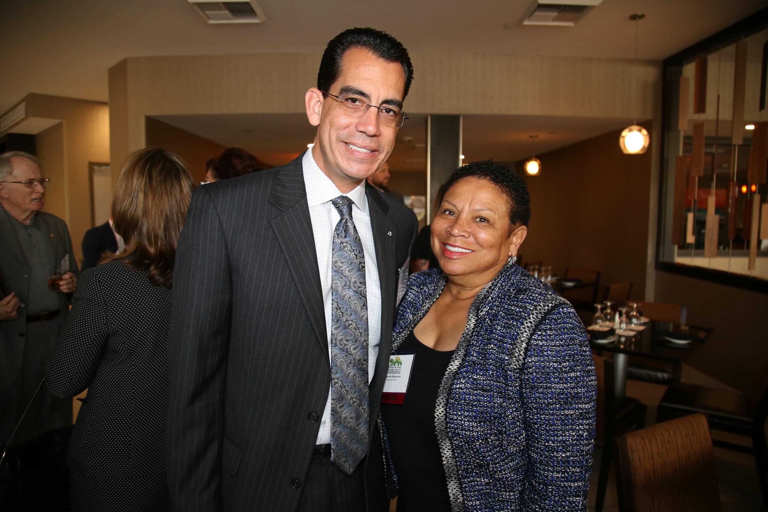 CEO Carlos Rodriguez and Rialto Mayor Deborah Robertson