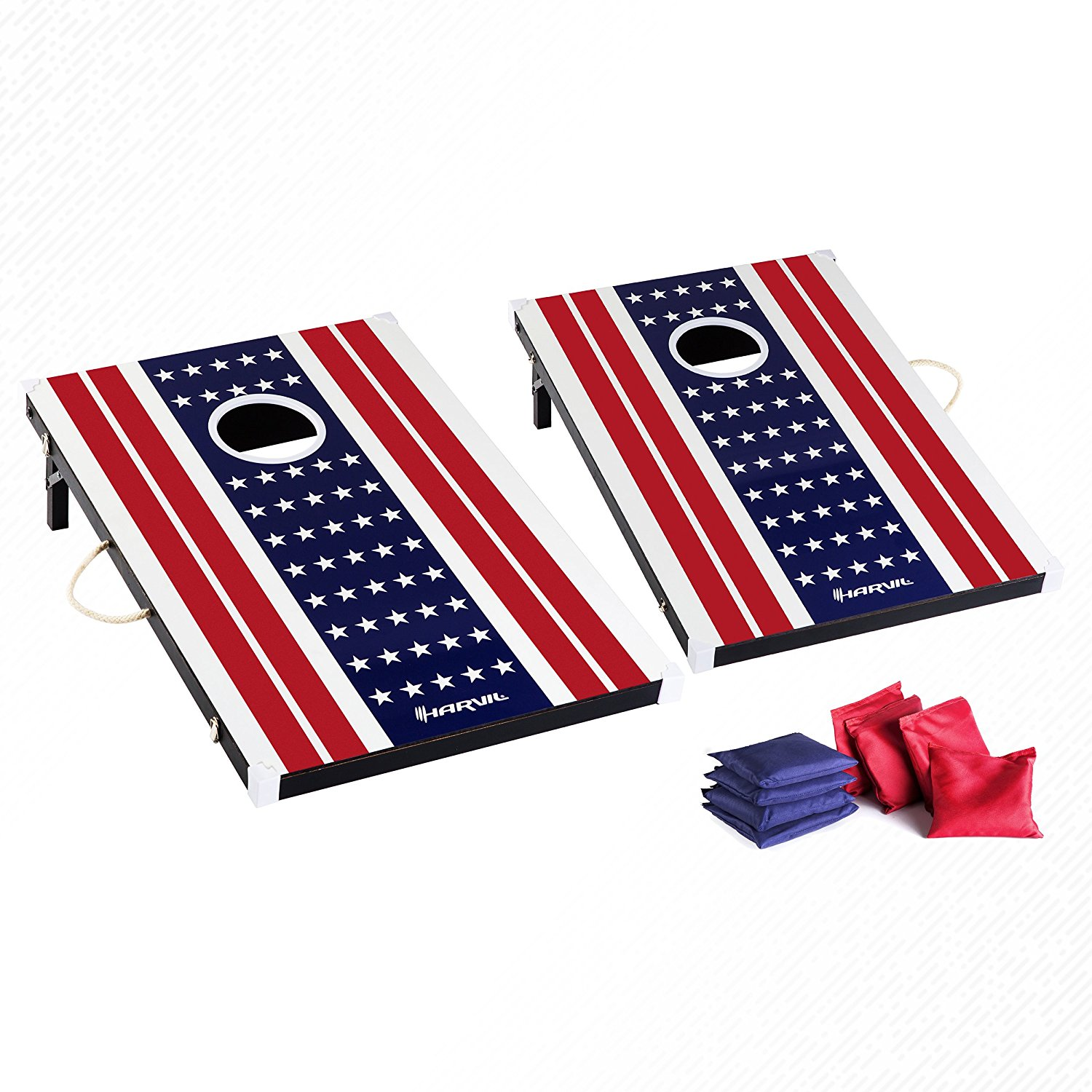 <b>Harvil Cornhole<br>Game Set</b><br>Includes 8 Double-Lined<br>Bean Bags