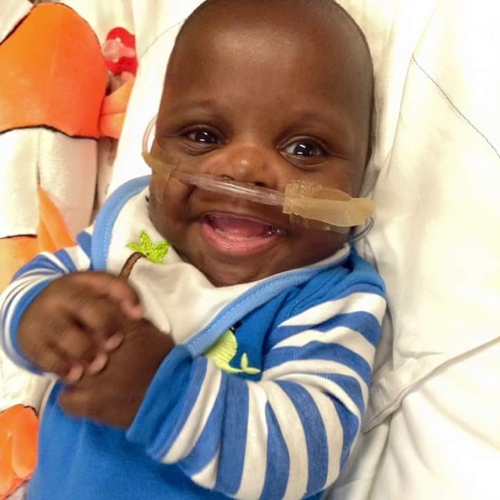"""Taco"", the son of MomsFirst Community Health Worker, Jennifer Jones, who passed away at 10.5 months old after being born 3 months premature."
