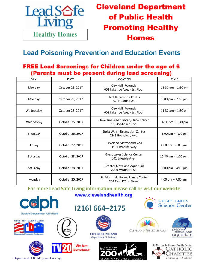 Lead Poisoning Prevention Schedule Oct 2017 Flyer.png