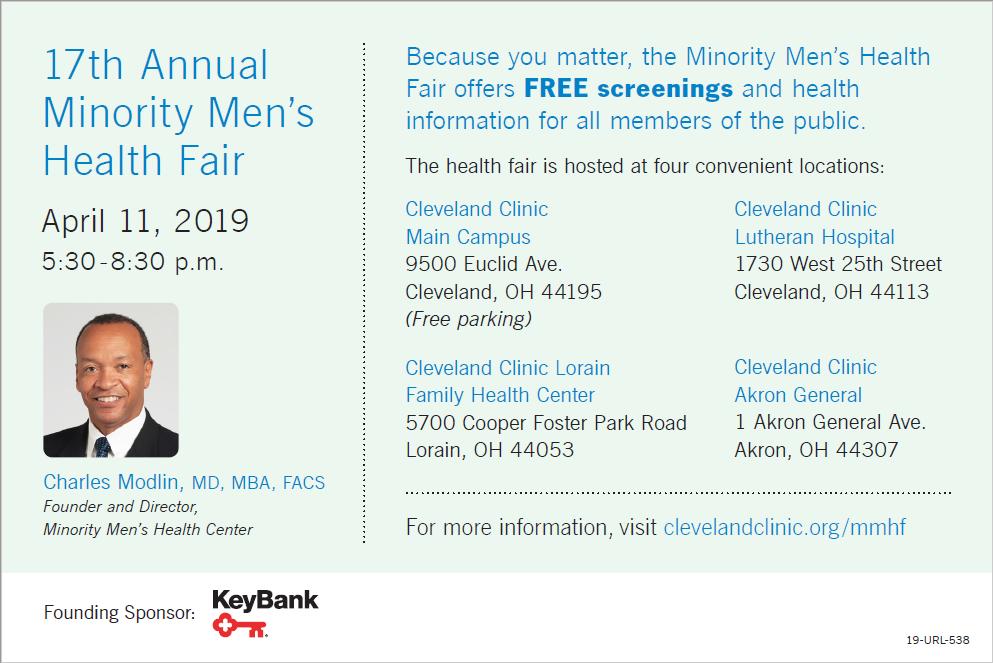 17th Annual Minority Men's Health Fair — momsfirst
