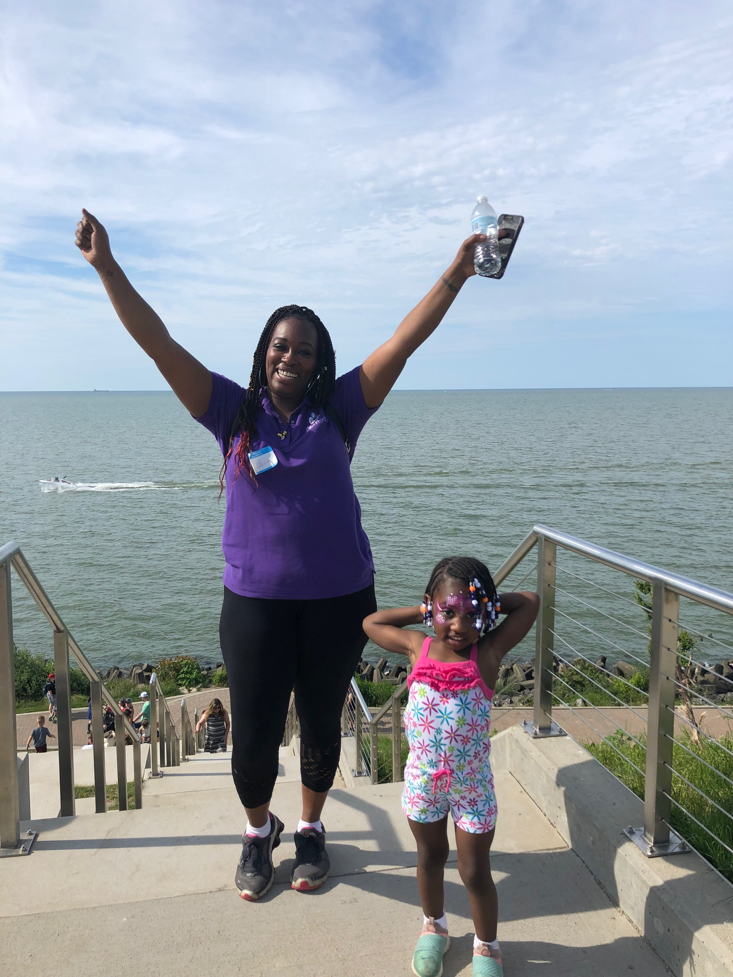 Candence and Kendell completed the Climb!