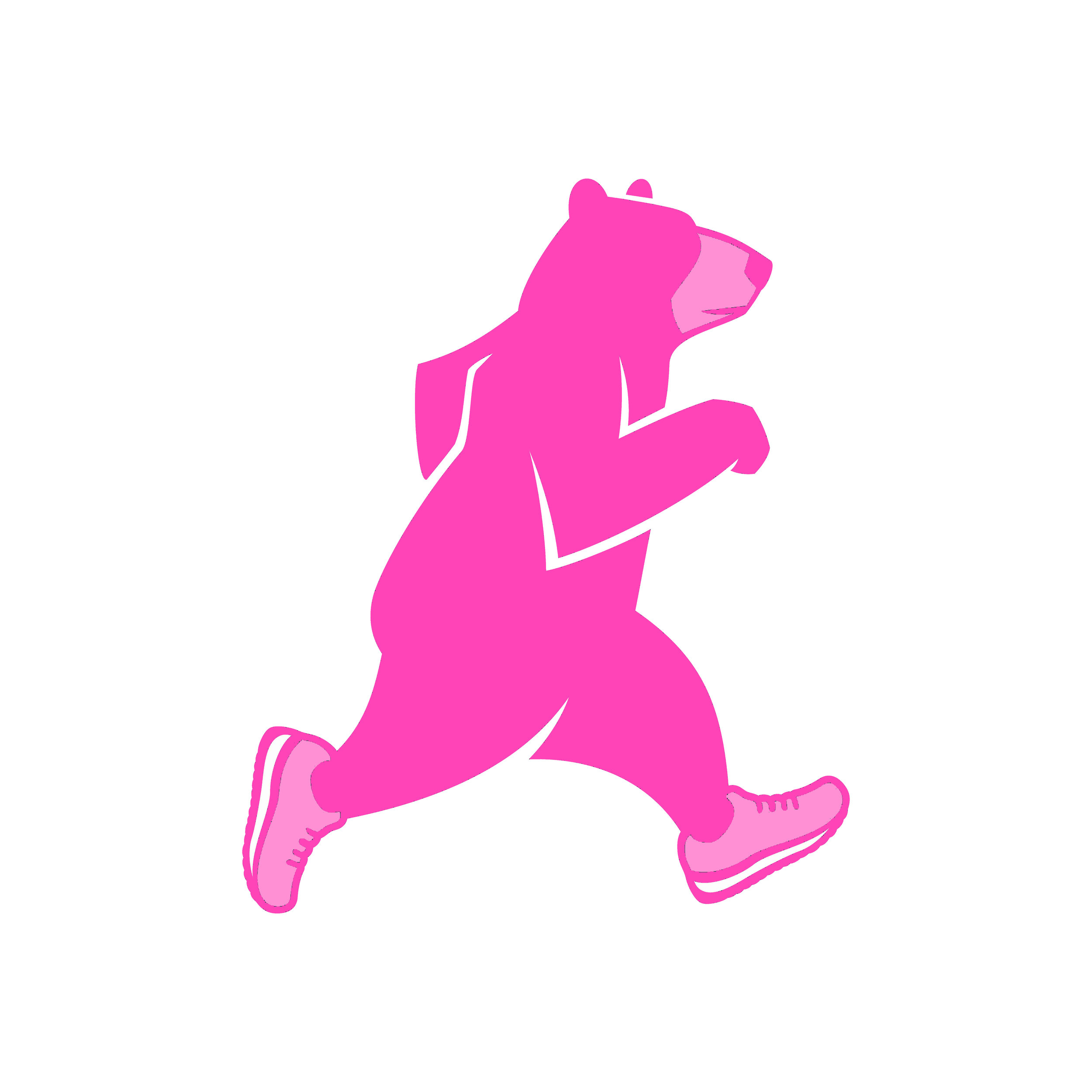 Girls on the Run - SOLD OUT! Purchase a limited edition Pink Ted sticker and all $3 will be donated to Girls on the Run of SE Tennessee.