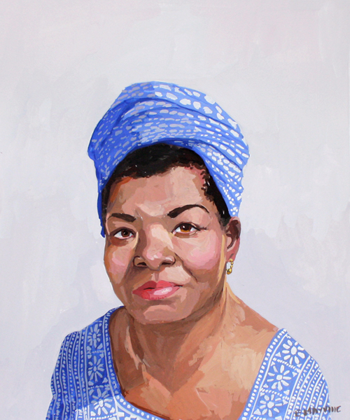 "Maya Angelou   2014 gouache on paper 8 x 10""  prints available"