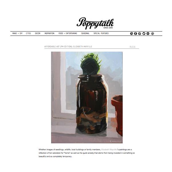 """Affordable Art (PM Edition): Elizabeth Mayville"",    Poppytalk.blogspot.com     , May 31 2011"