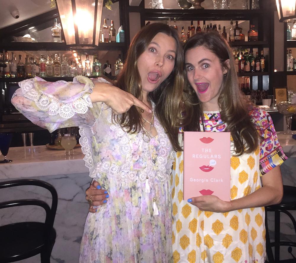 Jess Biel and me // LA book launch