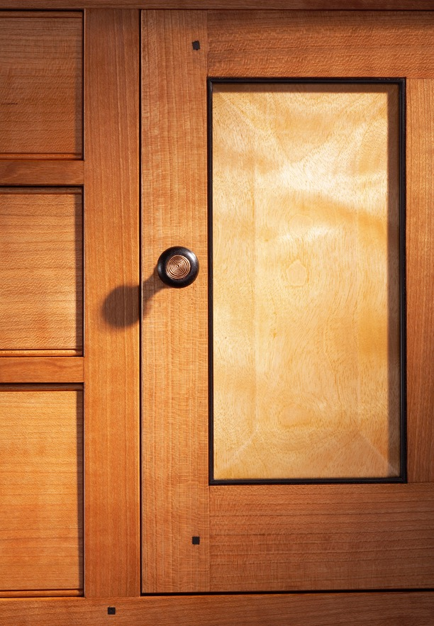 Careful selection of straight quatersawn door and case parts, that are  attractive and highly stable.