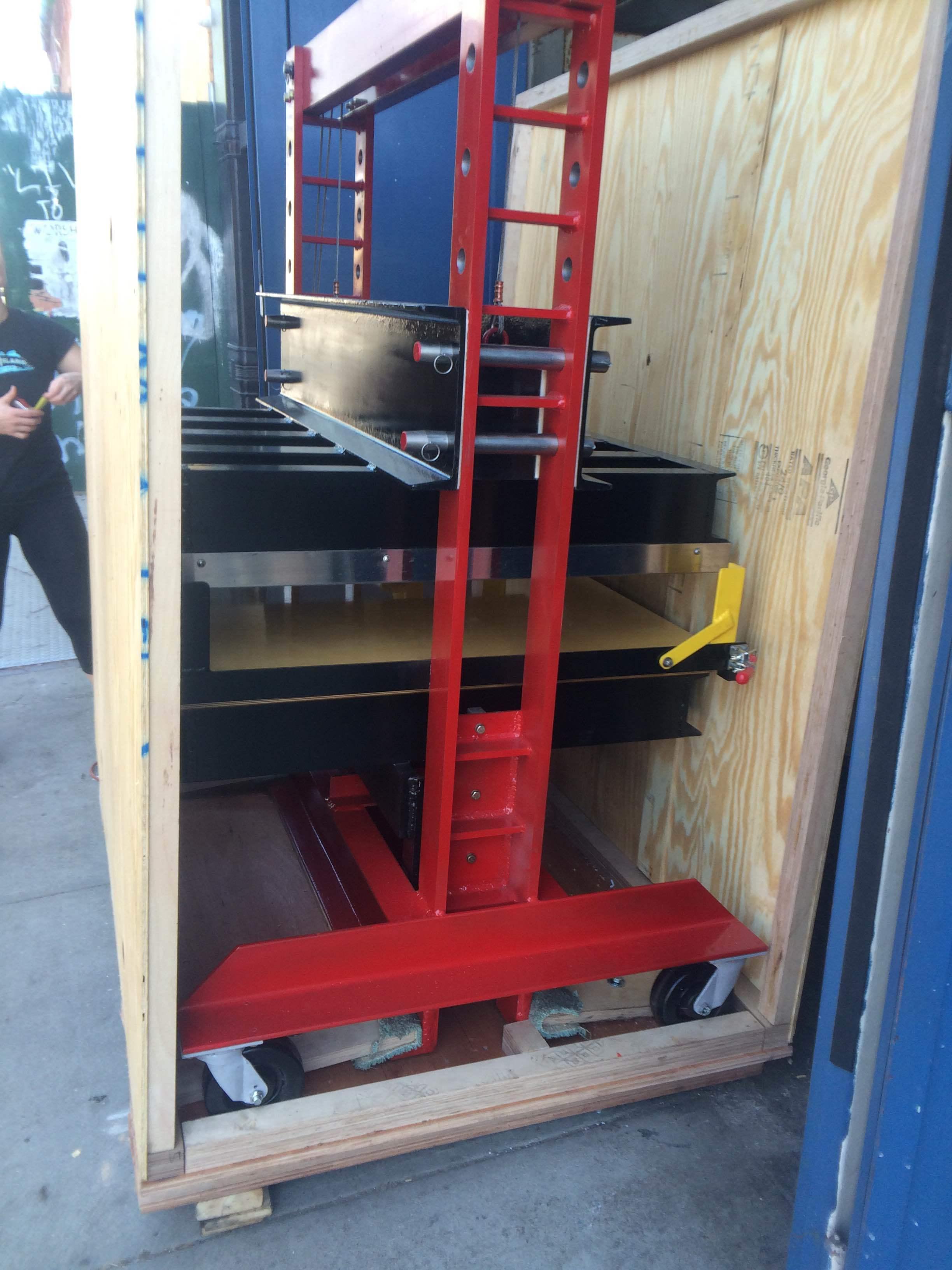 Crating a 50-ton press