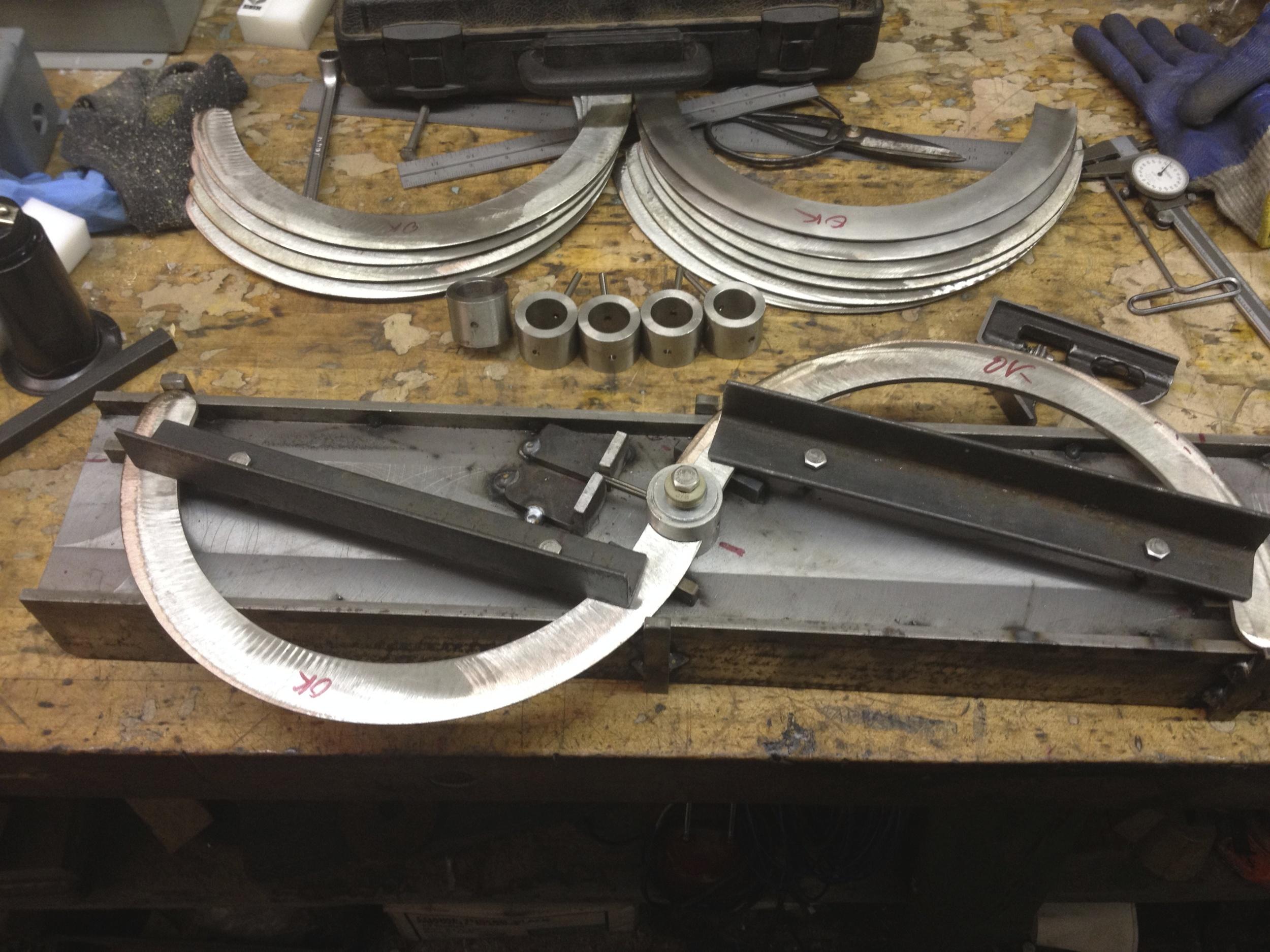Fabricating Naginata beater blades