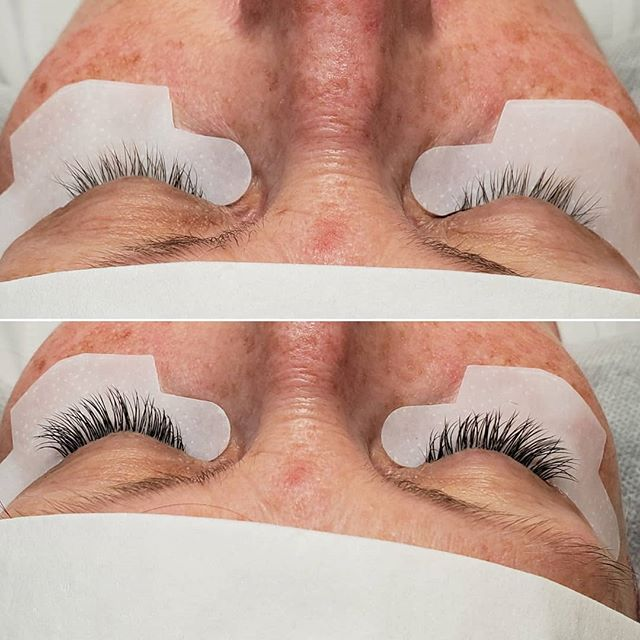 Before and after #travelbug #beforeandafter #vacationlashes