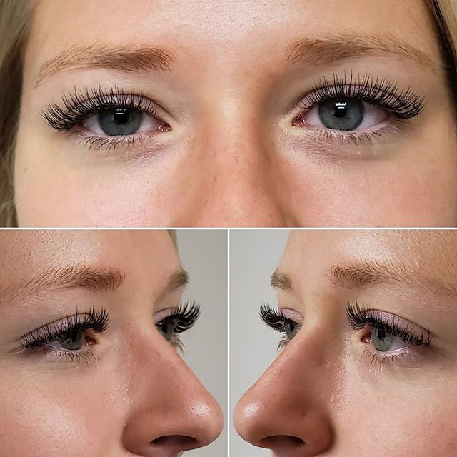 Tuesday before and after.  Classic/Single Layer application.  Black Faux Mink Bold extensions. X90 curvature.  0.15mm diameter. 6-12mm lengths. (Lash Savvy 'Volume' Adhesive used.... can't wait for Xtreme's 'Volume' Adhesive to come in the mail!) #xtremelashes @xtremelashes #lashes #eyelashes #lashextensions #eyelashextensions #beforeandafter #denver #denverlashes #lakewood #lakewoodlashes #colorado #coloradolashes