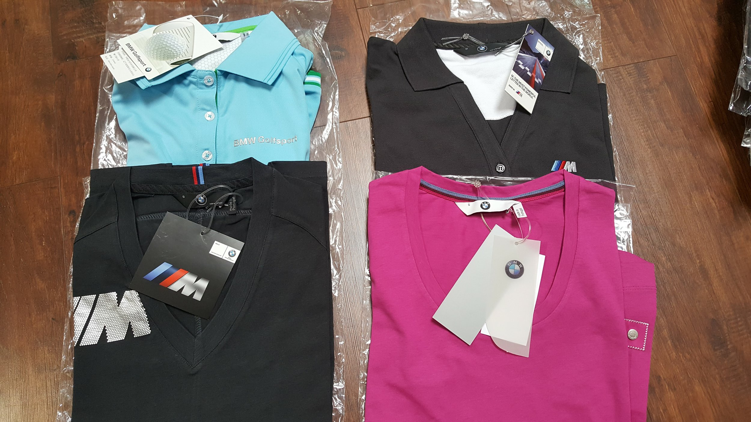various bmw women's apparel  Donated by  BMW of Fremont . 4 winners. Estimated value: $30-60.