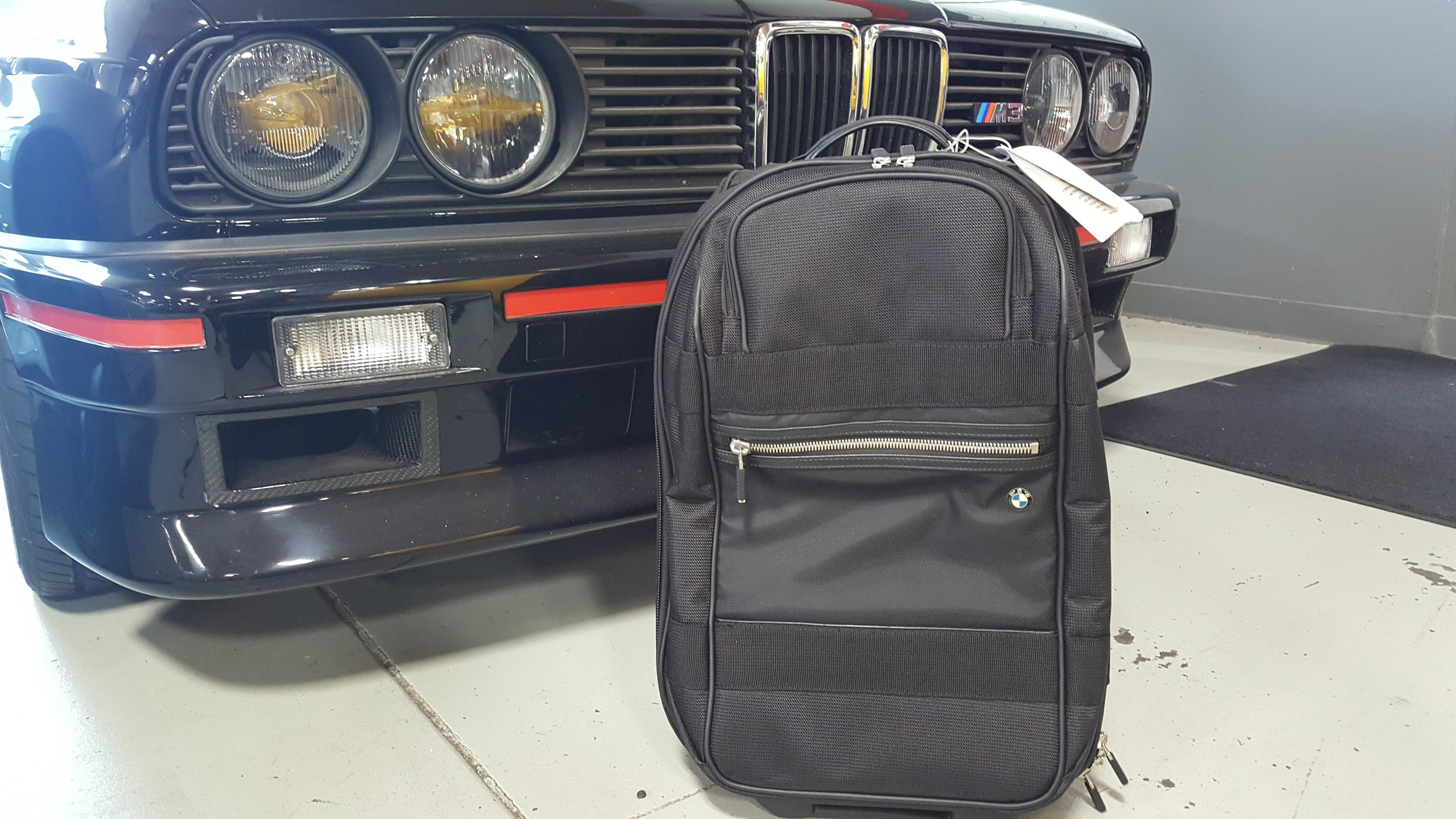 """bmw 20"""" trolley luggage  Donated by  BMW of Fremont . 1 winner. Estimated value: $120-150."""