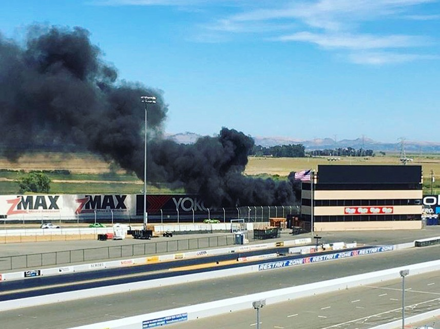 """During the red flag (you can see me and """"Irene"""" under the first ZMAX sign on the far left)"""