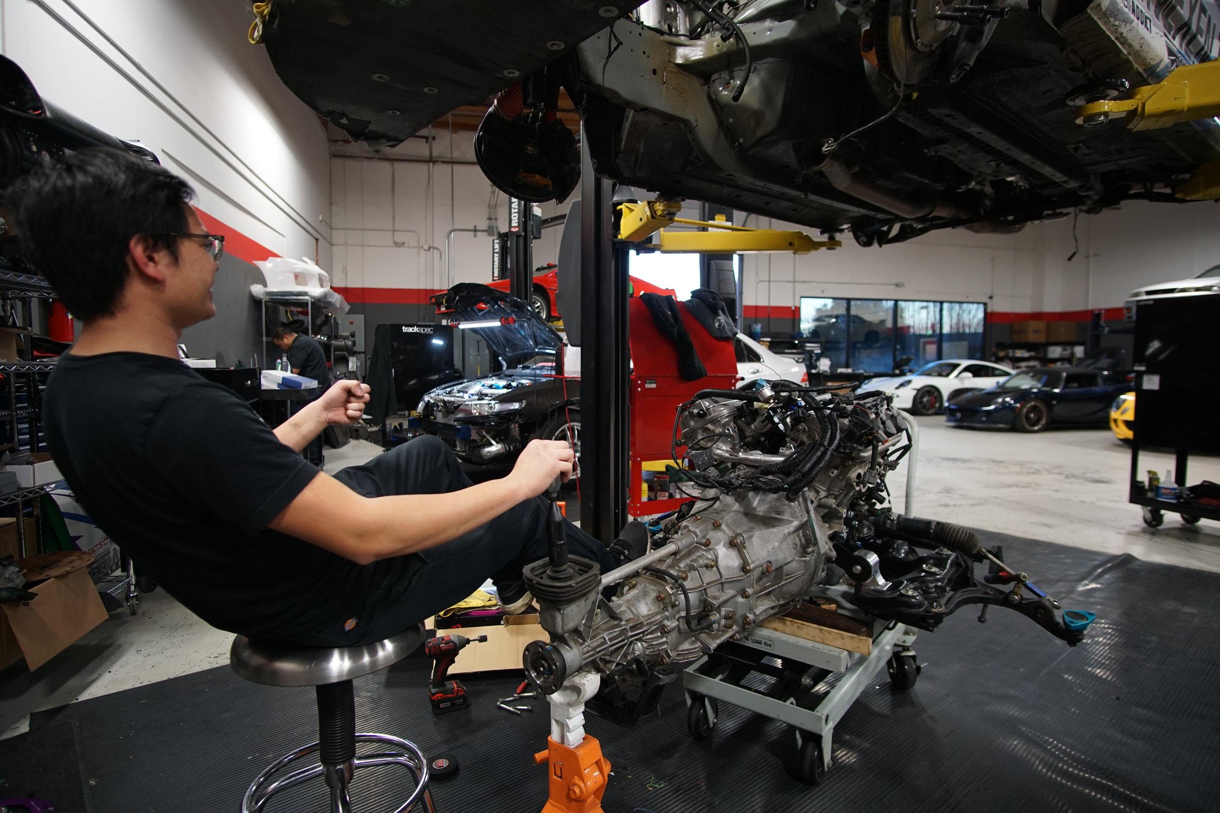 Testing the new drivetrain