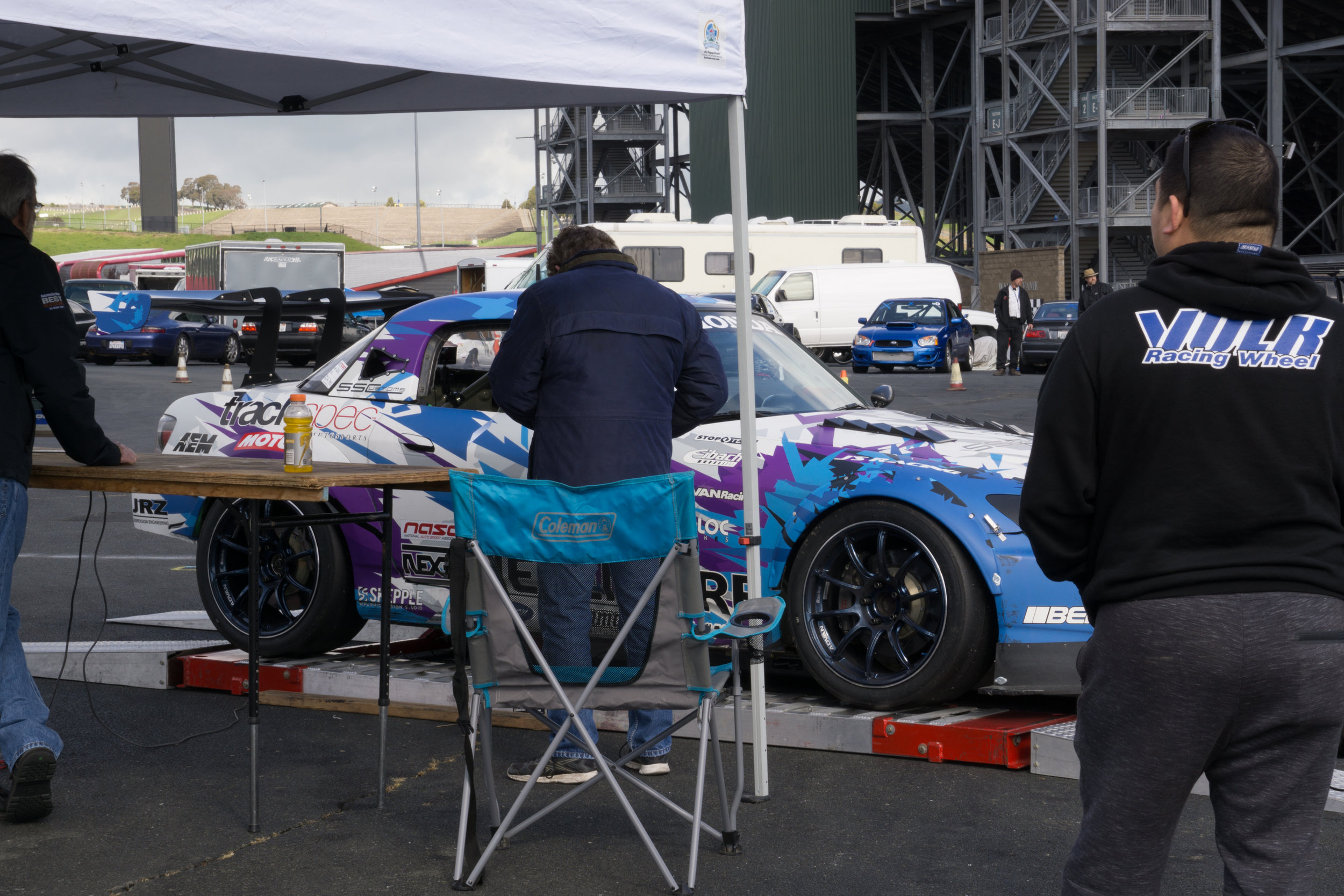 Rolling over the scales after qualifying (required).