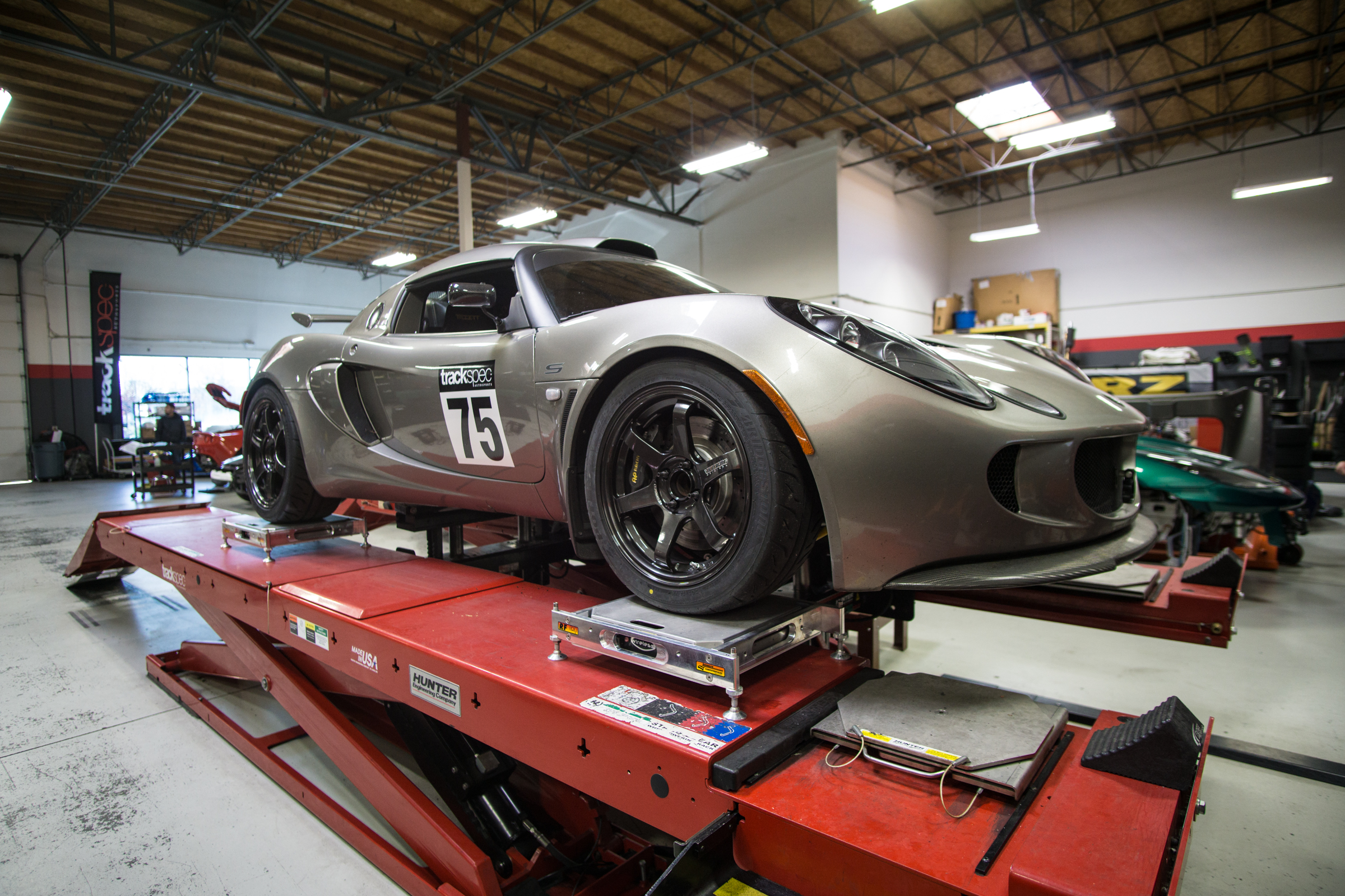 Corner balance Alignment Lotus Exige Trackspec Autosports