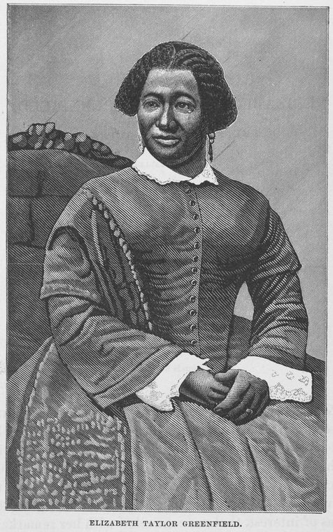 "Courtesy of  Schomburg Center for Research in Black Culture, Manuscripts, Archives and Rare Books Division, The New York Public Library. ""Elizabeth Taylor Greenfield.""   The New York Public Library Digital Collections  . 1878."