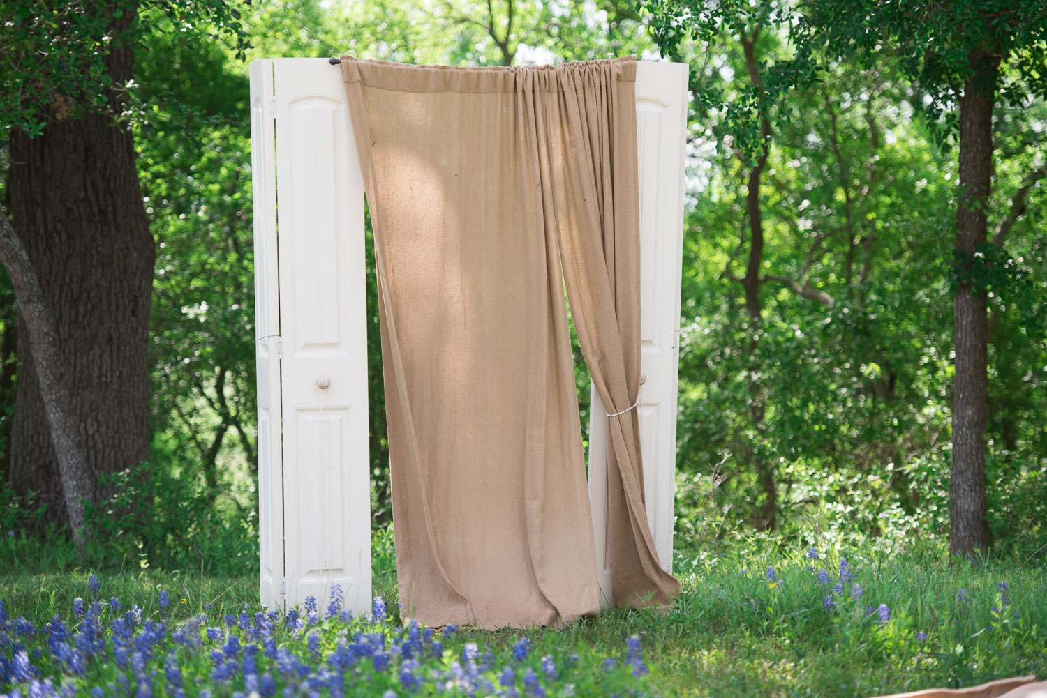 22 Doors were repurposed as a curtain for the entry way of the aisle.jpg