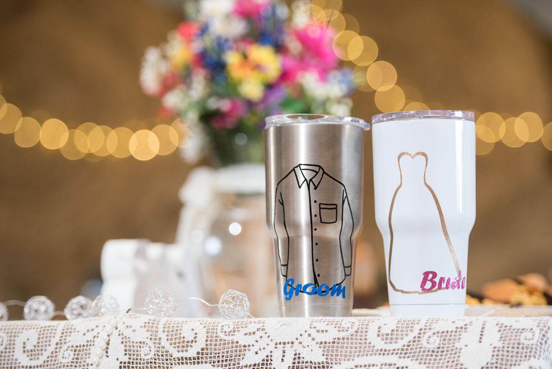 72 Custom metal tumblers for bride and groom reception.jpg