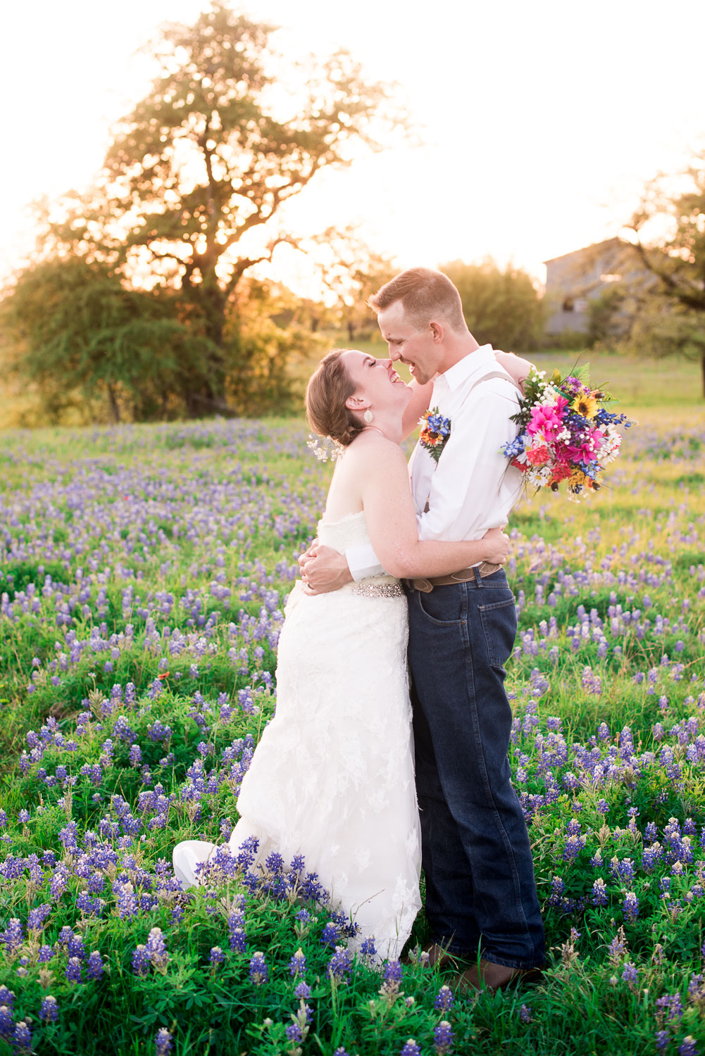 97 kissing bridal photos during golden hour in texas in march.jpg
