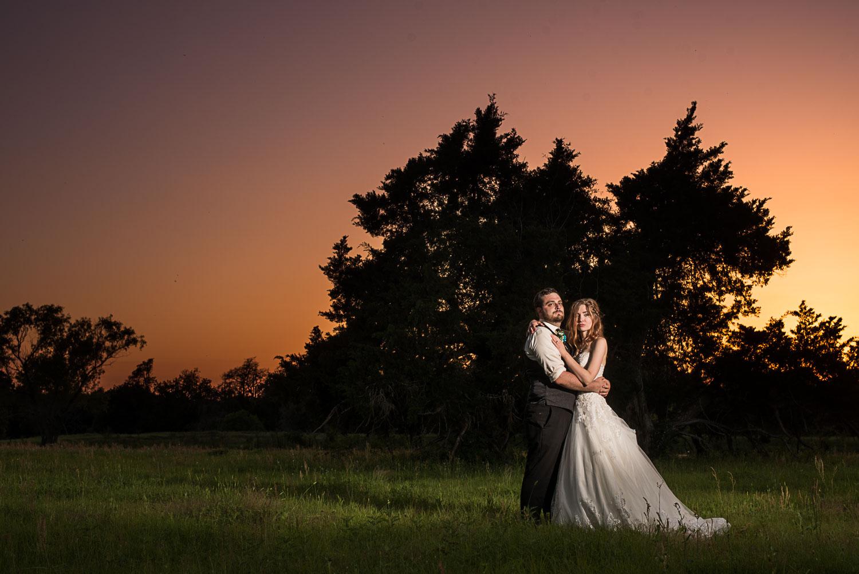 174 wedding photography during sunset on farm land.jpg