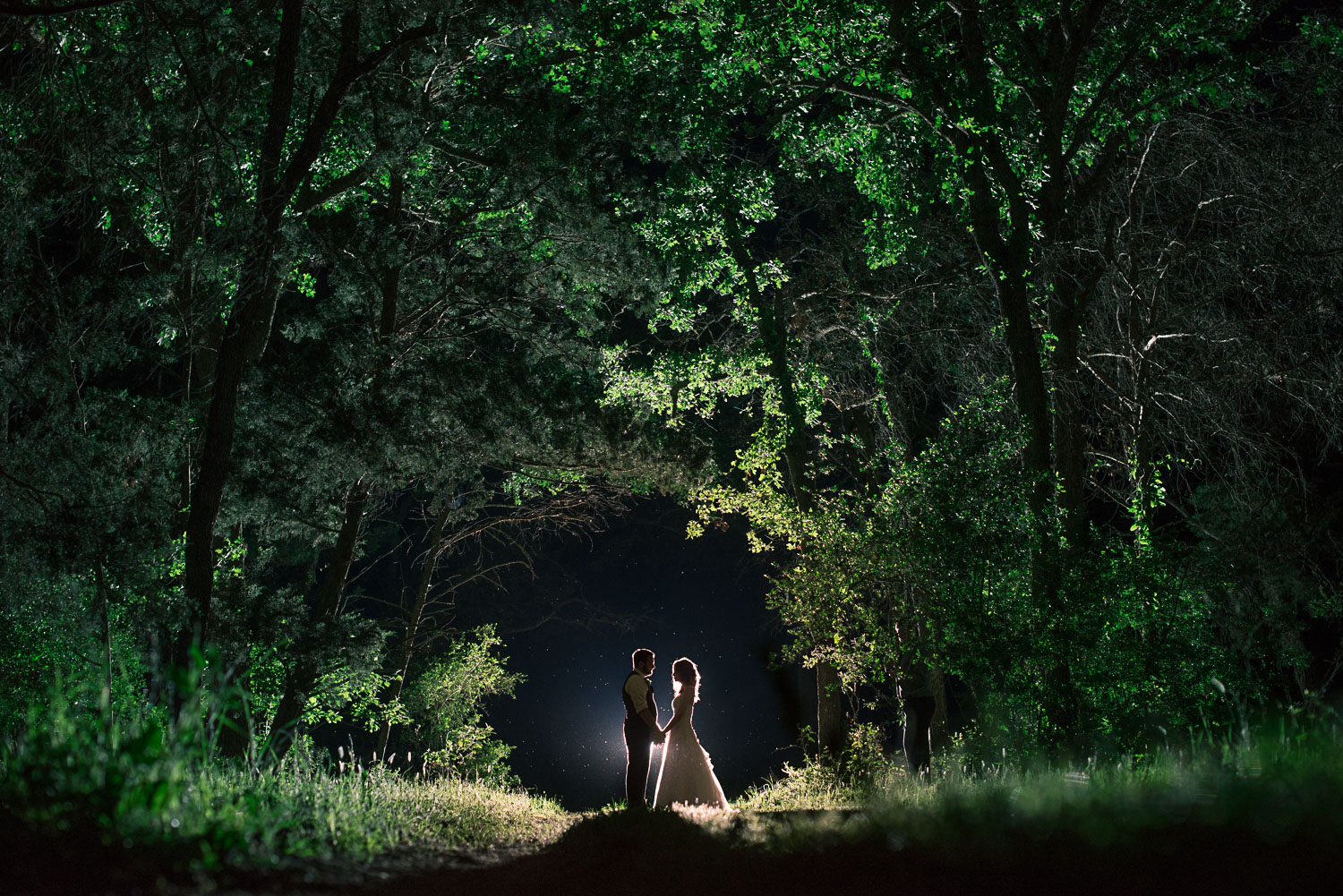 194 bride and groom fairytale wedding in forest in texas.jpg