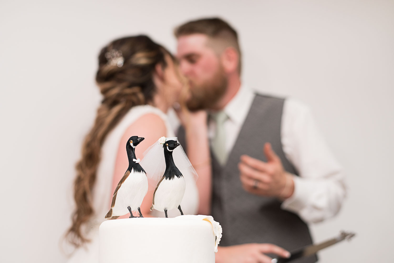 109 custom goose cake topper bride and groom.jpg