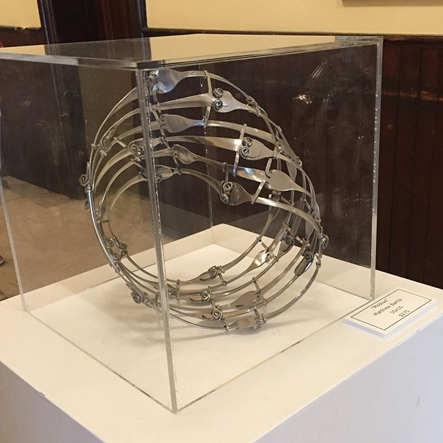 #forkart will be on display at the #salemny courthouse community hall until July 9th it's a lovely little town to visit #artistsoninstagram #galleryart #smalltownamerica #upstatenewyork #salem #sculpture #forkartgetbent #mobius #artoninstagram #artondisplay #checkitout