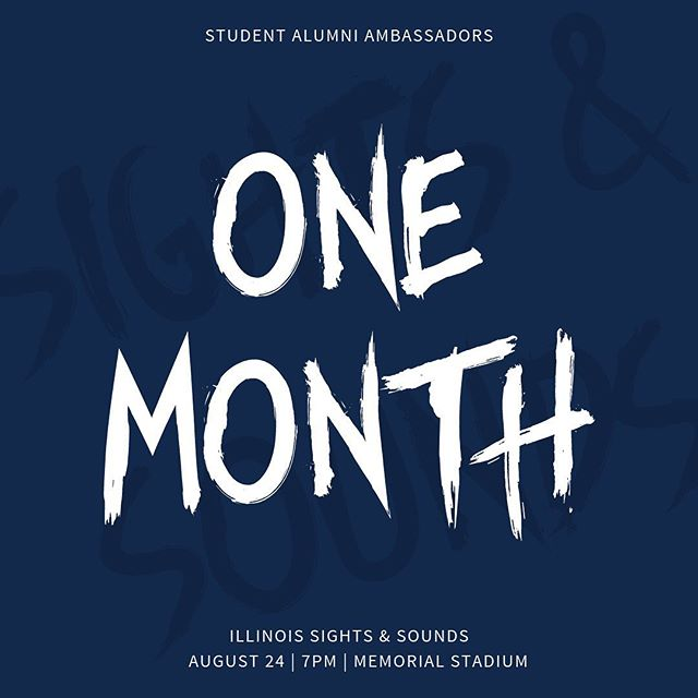 Class of 2023! Time to get pumped because we are only ONE MONTH away from Illinois Sights & Sounds! We cannot wait to welcome you all to your new home🔸🔹 #ILLINOIS #UIUC2023