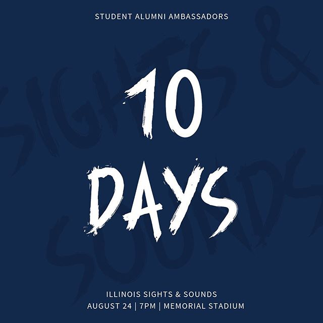 Class of 2023, only TEN more days until the biggest welcome of your college career! Get excited! 🔹🔸 #ILLINOIS #UIUC2023