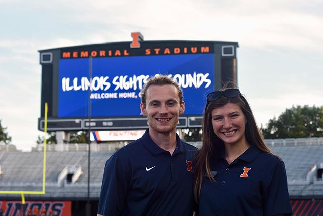 Shoutout to our amazing Sights & Sounds Co-Directors, Sonny and Lauren, for all their hard work this summer! Sights & Sounds would not have been possible without you two! And thank you to the Class of 2023 for the amazing energy you all brought to Memorial Stadium on Saturday! 🔸🔹