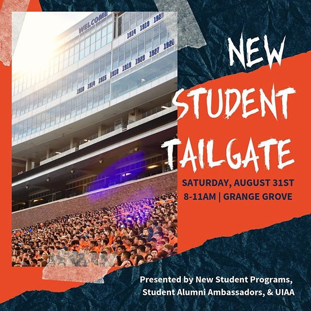 New students! This one is for you! Join us tomorrow at Grange Grove from 8-11 for the New Student Tailgate! First 100 students there who are wearing their shirt from Sights & Sounds will be able to be a part of the run out tunnel for the football team!🔹🔸🏈