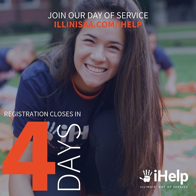 Only four days left to register for iHelp! Go to illinisaa.com/ihelp to give back!