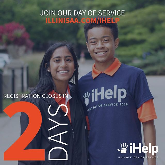 Registration for iHelp closes in two days! Register as a group or individually at illinisaa.com/ihelp to participate in our day of service!