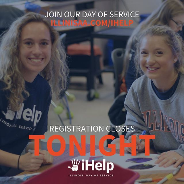 Today is the LAST day to register for iHelp 2019! You don't want to miss out on this! illinisaa.com/ihelp