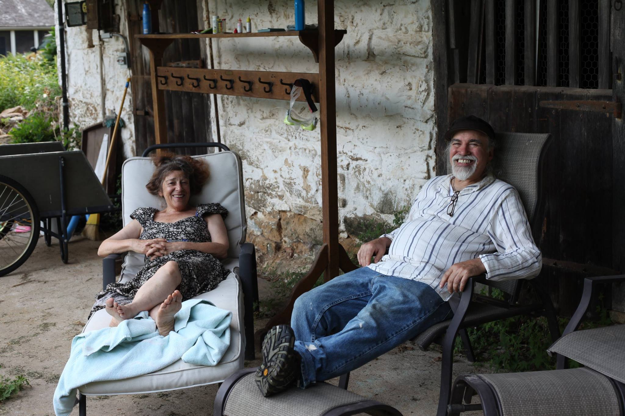 Jan and Dionisio: long-time social activists, artists & our gracious landlords