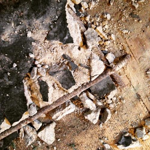 rebar under concrete slab