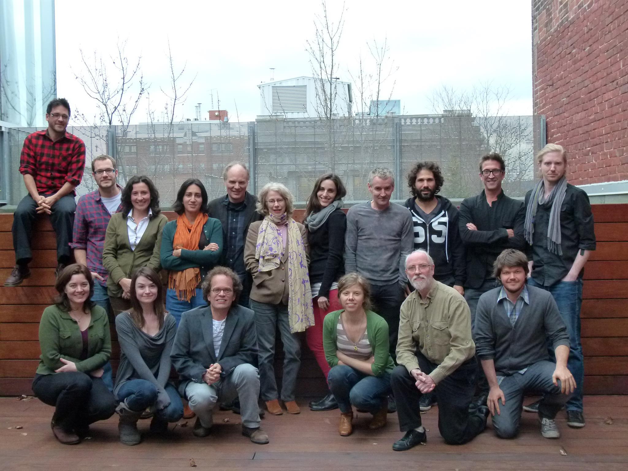 SODEC screenwriting Workshop teammates, 2012
